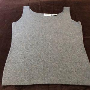 Gray Cashmere blend tank top